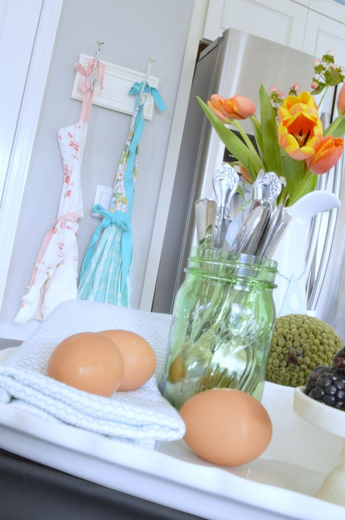Beautiful Easter Buffet in the kitchen