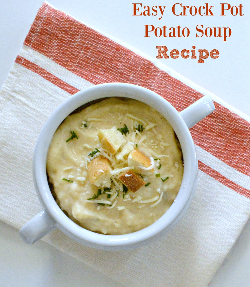 Potato Cheese Crock Pot Recipe, so simple to make