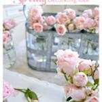 Mason Jar Flowering Bouquets