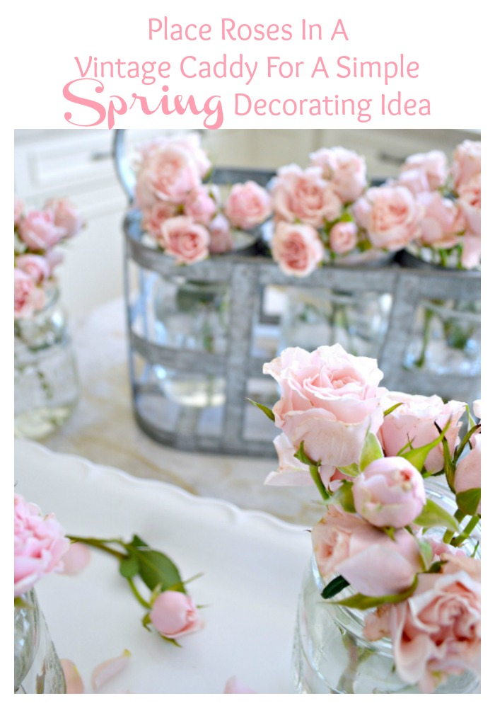 Such a great decorating idea for Spring, Mason Jar Flower Bouquets