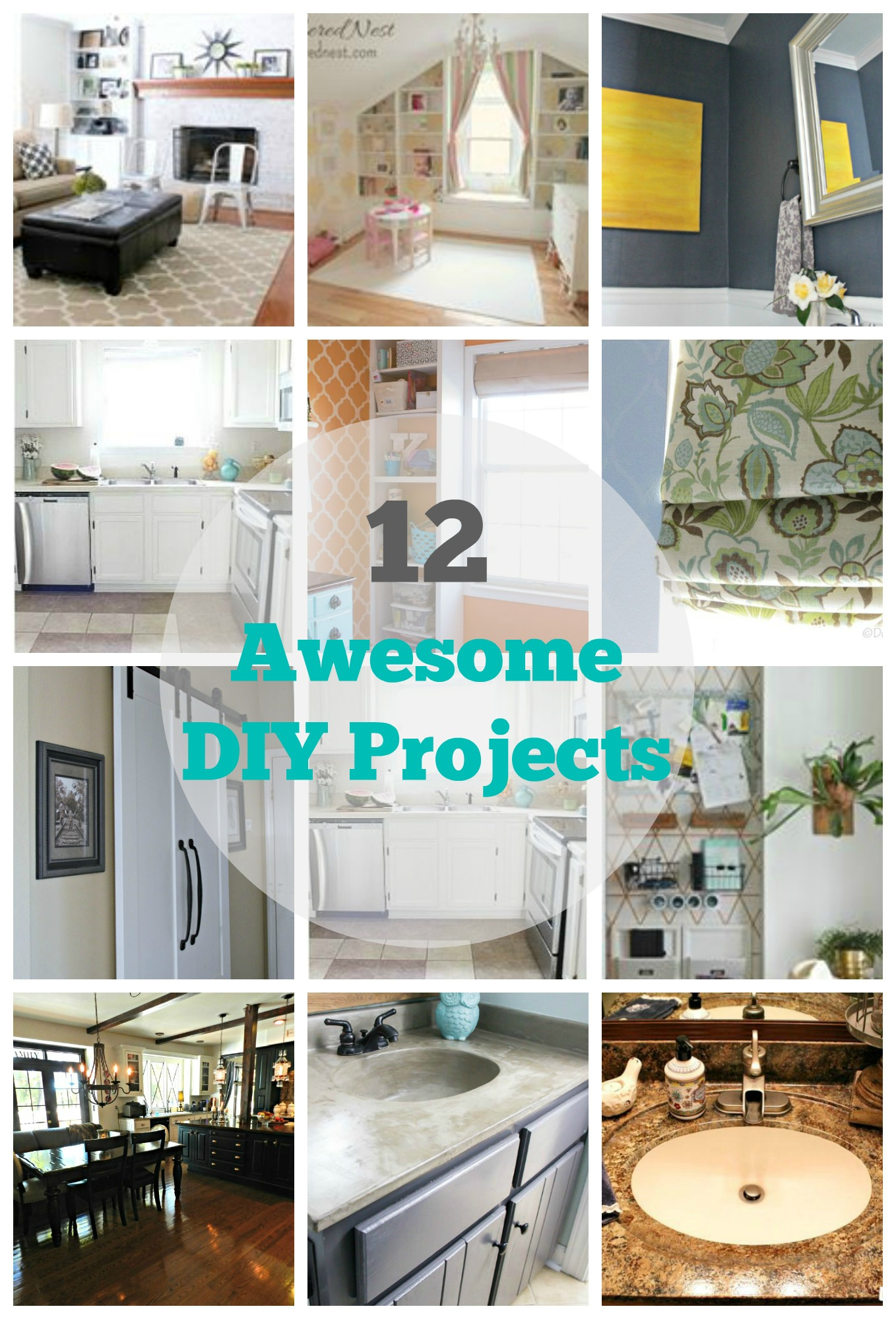 12 diy home improvement projects my uncommon slice of for Simple home improvement ideas