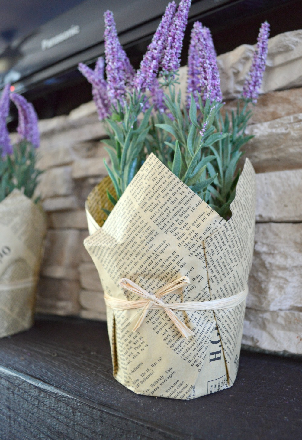 Faux Lavender, you would never know! So Pretty!