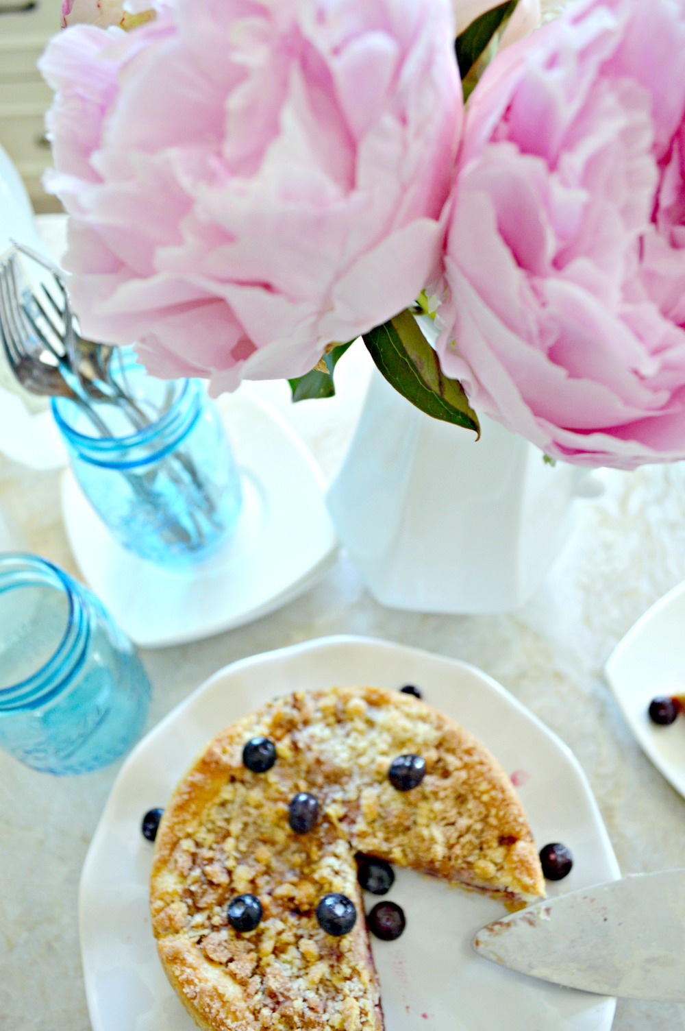 Summer Home Tour with amazing blueberry tarts and peonies
