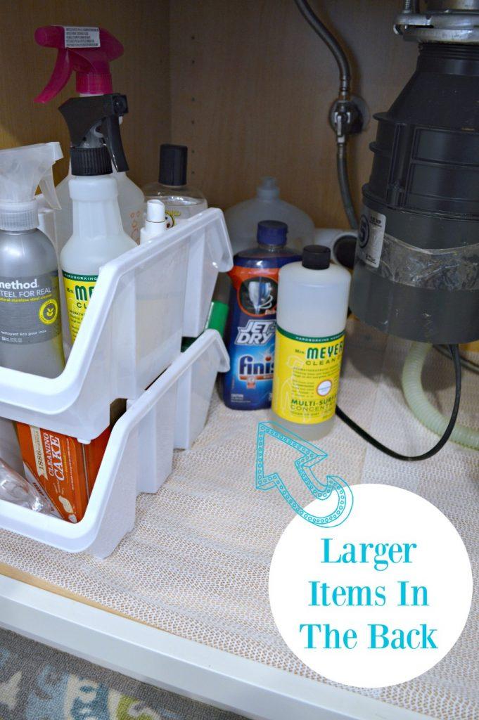 organization under the kitchen sink
