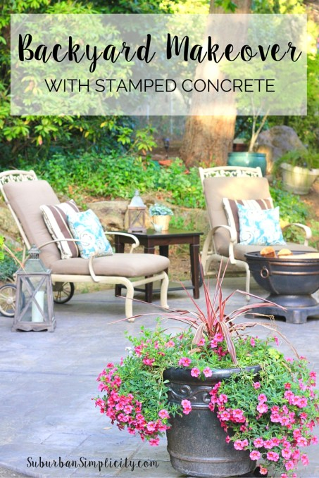 Inspire Me Monday #115-Makeover-with-Stamped-Concrete