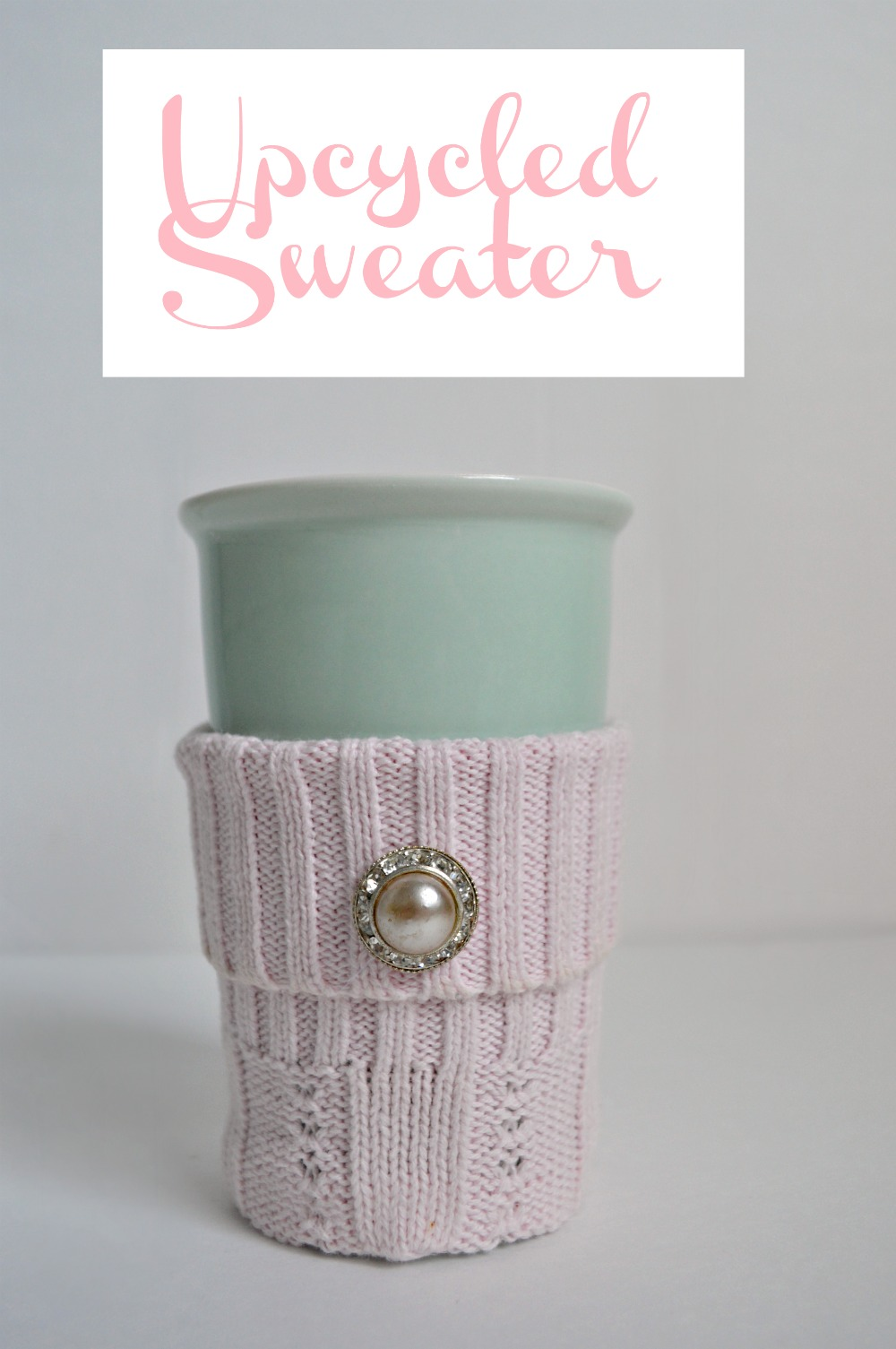 Upcycle a old sweater and turn it into a cozy coffee sleeve!