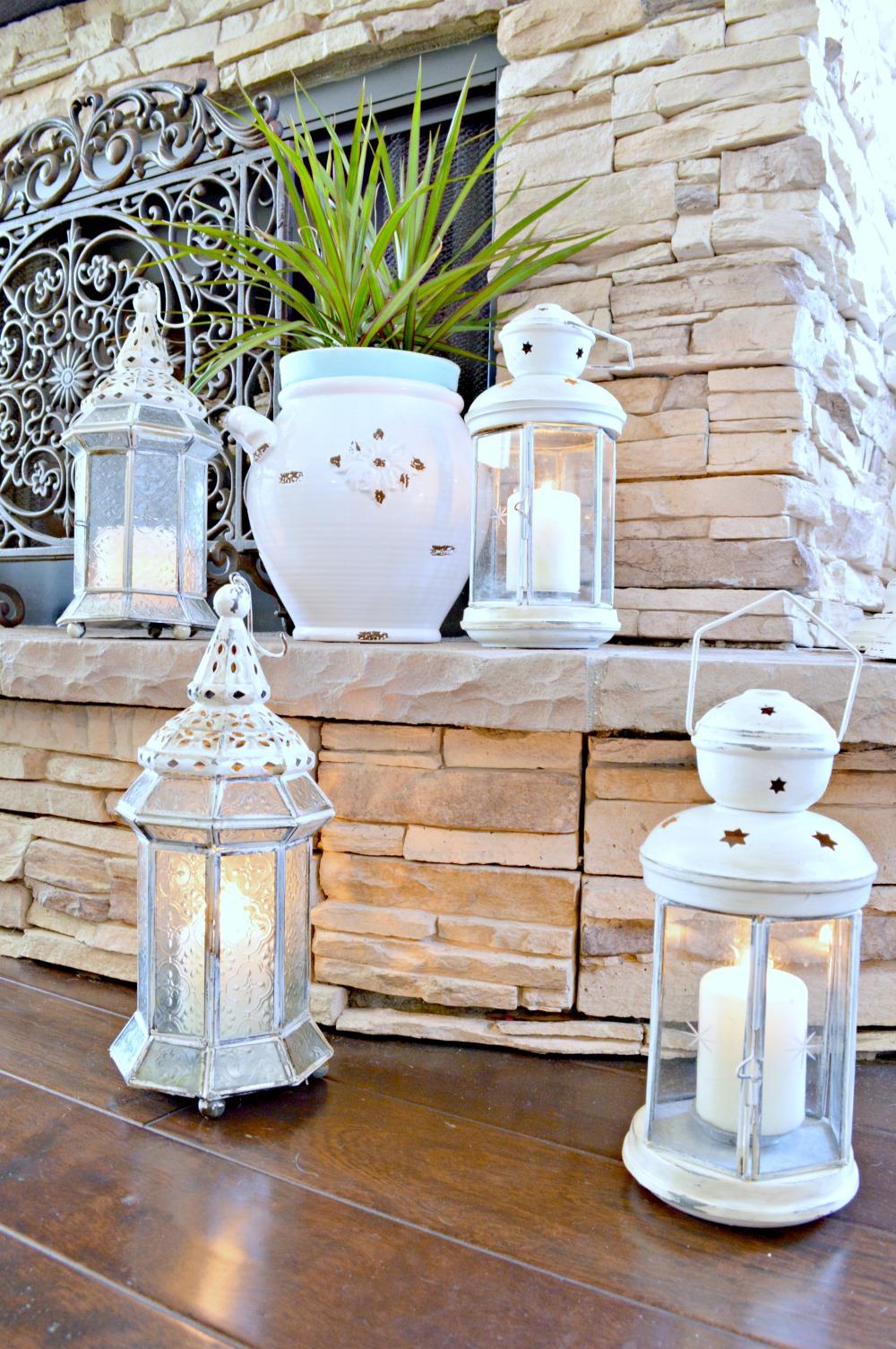 DIY painted lanterns great tutorial