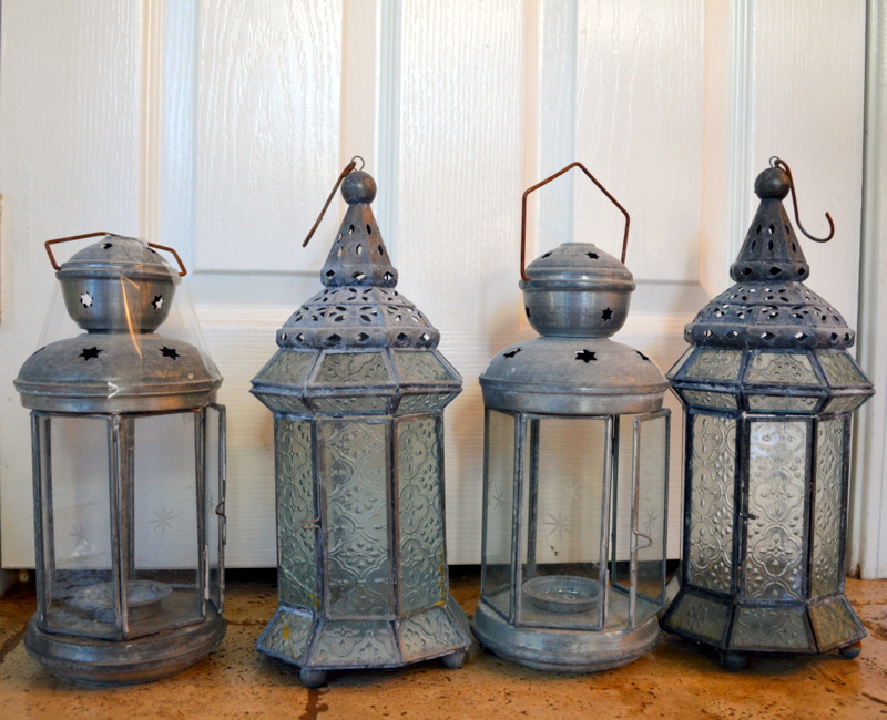 Transform those old lanterns, great tutorial, this is the before!