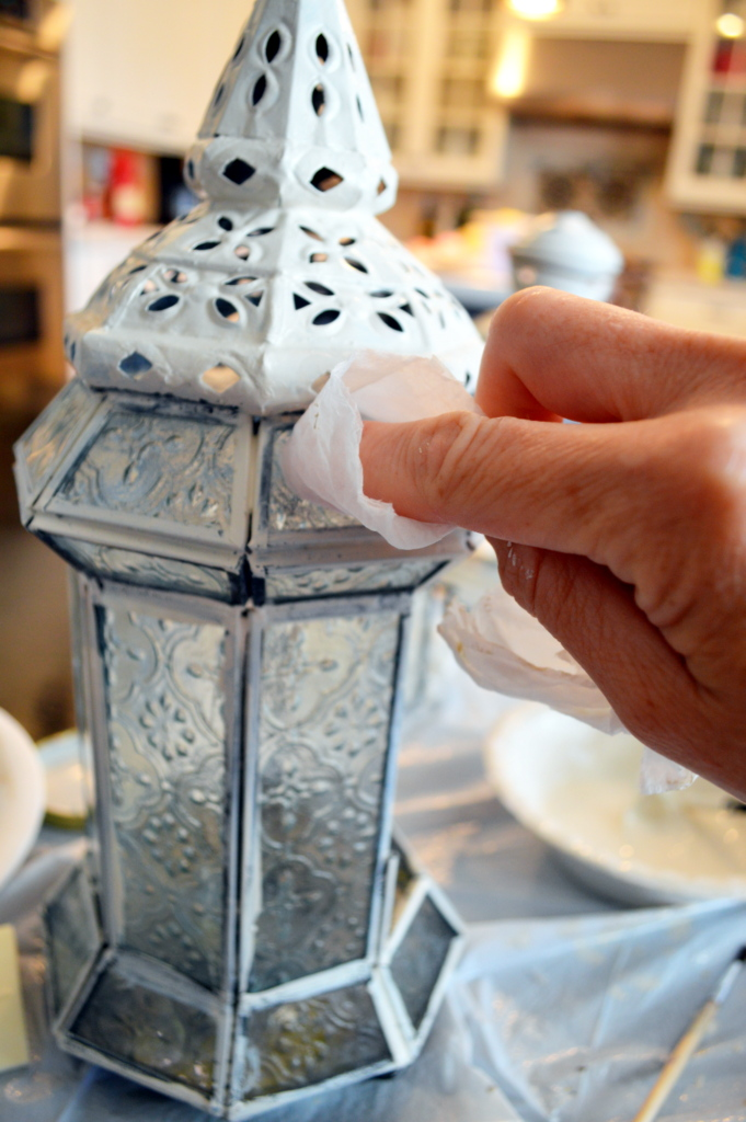 Update those old lanterns using paint, great step by step tutorial