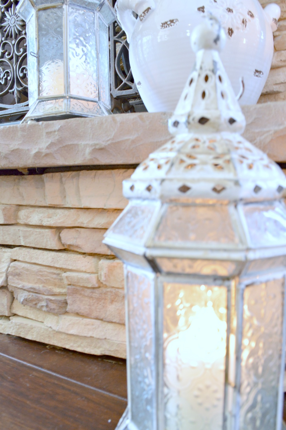 Don't throw away an old lantern, paint it!