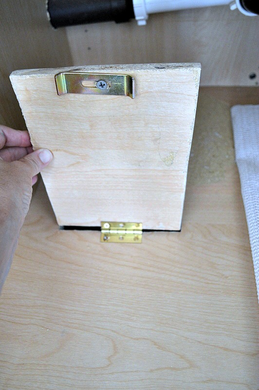 Make a small trap door inside the kitchen cabinet to see if you have any water leaking at any time.
