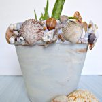 DIY Shell Covered Pot