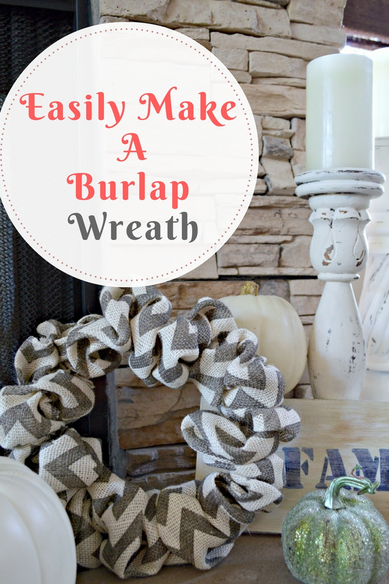 Easily create a burlap wreath