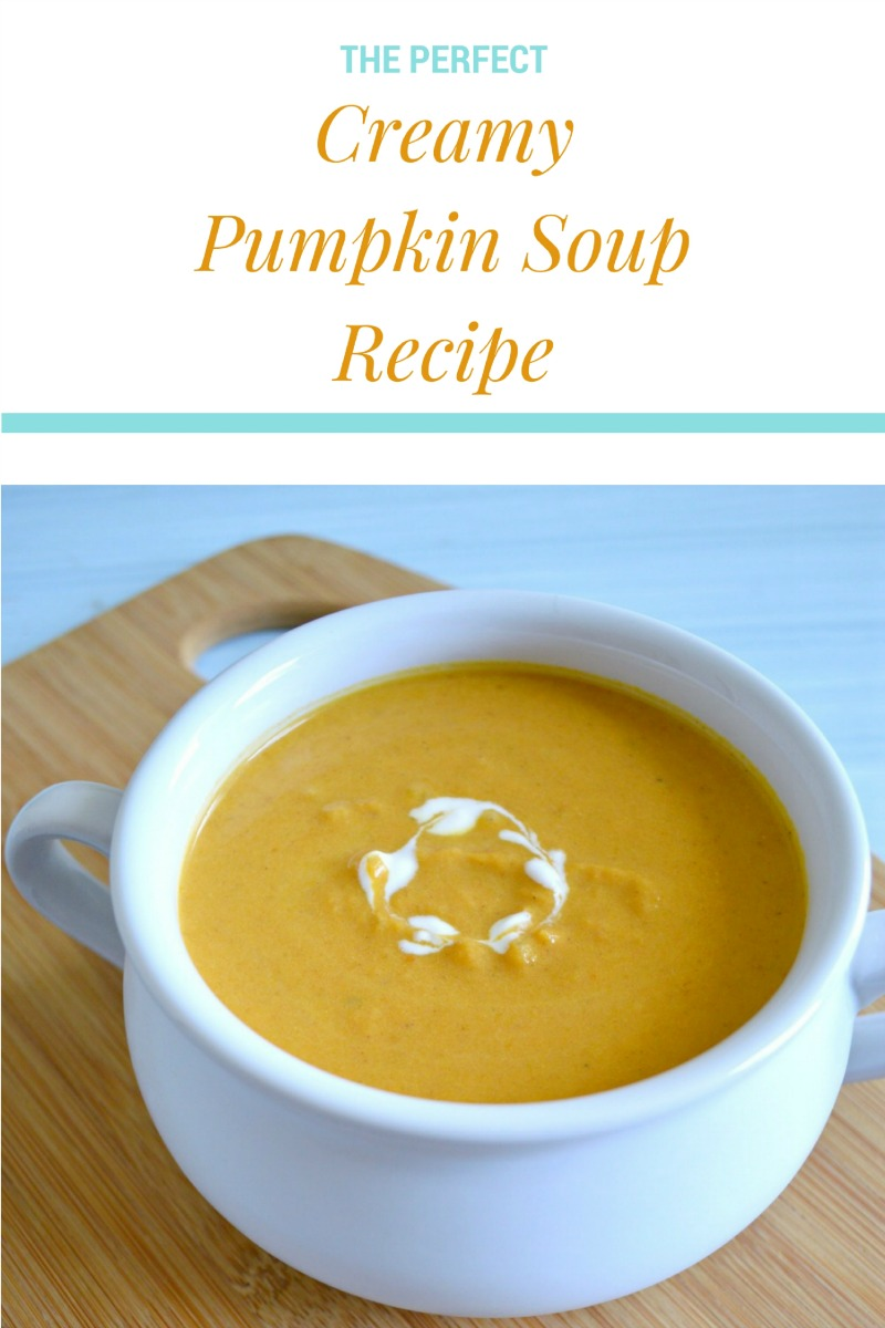 This pumpkin soup is so smooth and creamy, perfect for a crisp autumn meal!