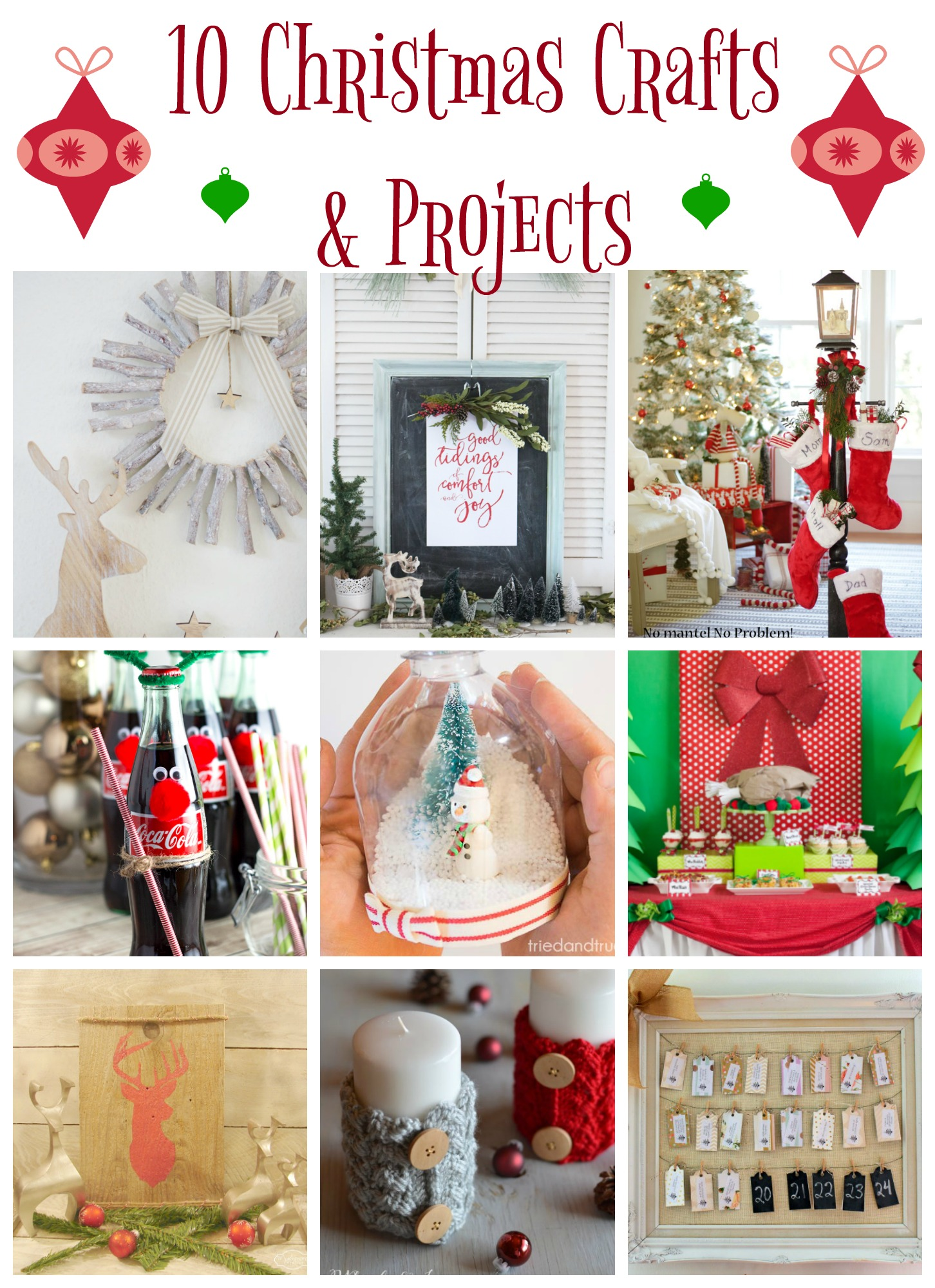 10 Christmas Projects And Crafts