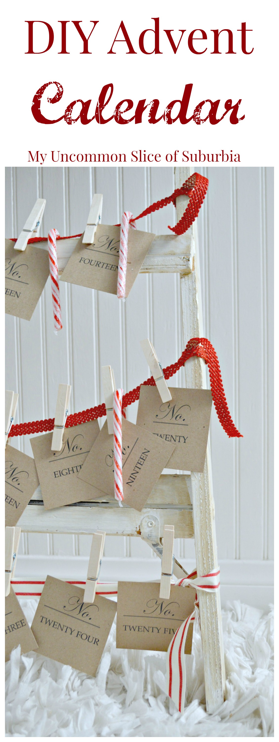 Diy advent calendar my uncommon slice of suburbia - Pinterest advent ...