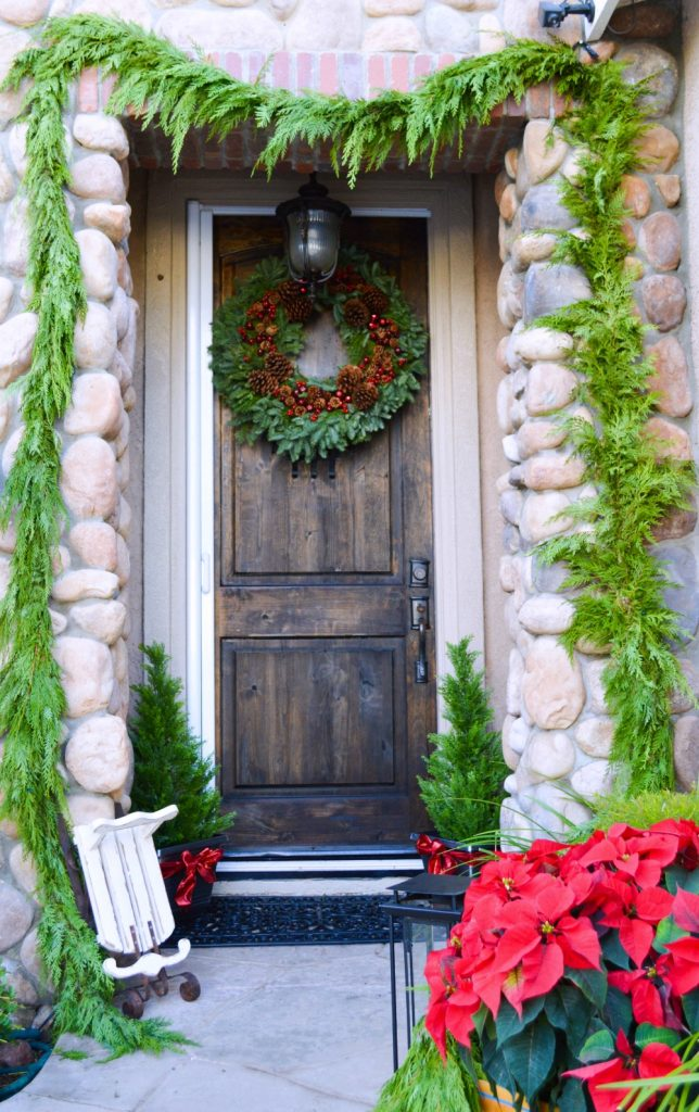 how-to-decorate-a-small-front-porch-with-fresh-garland