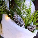 How To Make DIY Snow Covered Pinecones