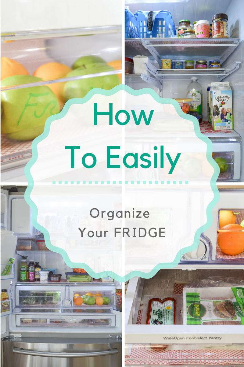 Great steps for organizing the fridge!
