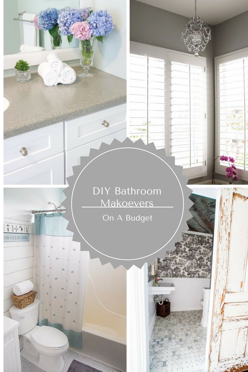 A beautiful collection of bathroom makeovers all done on a budget!