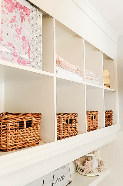 DIY Mudroom Wall using bookshelves, My Uncommon Slice of Suburbia-7