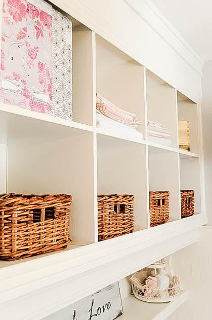 DIY Mudroom Wall using bookshelves, My Uncommon Slice of Suburbia-7