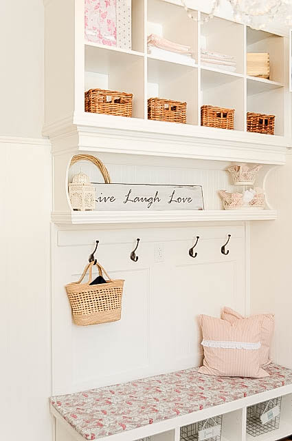 DIY Mudroom Wall using bookshelves, My Uncommon Slice of Suburbia