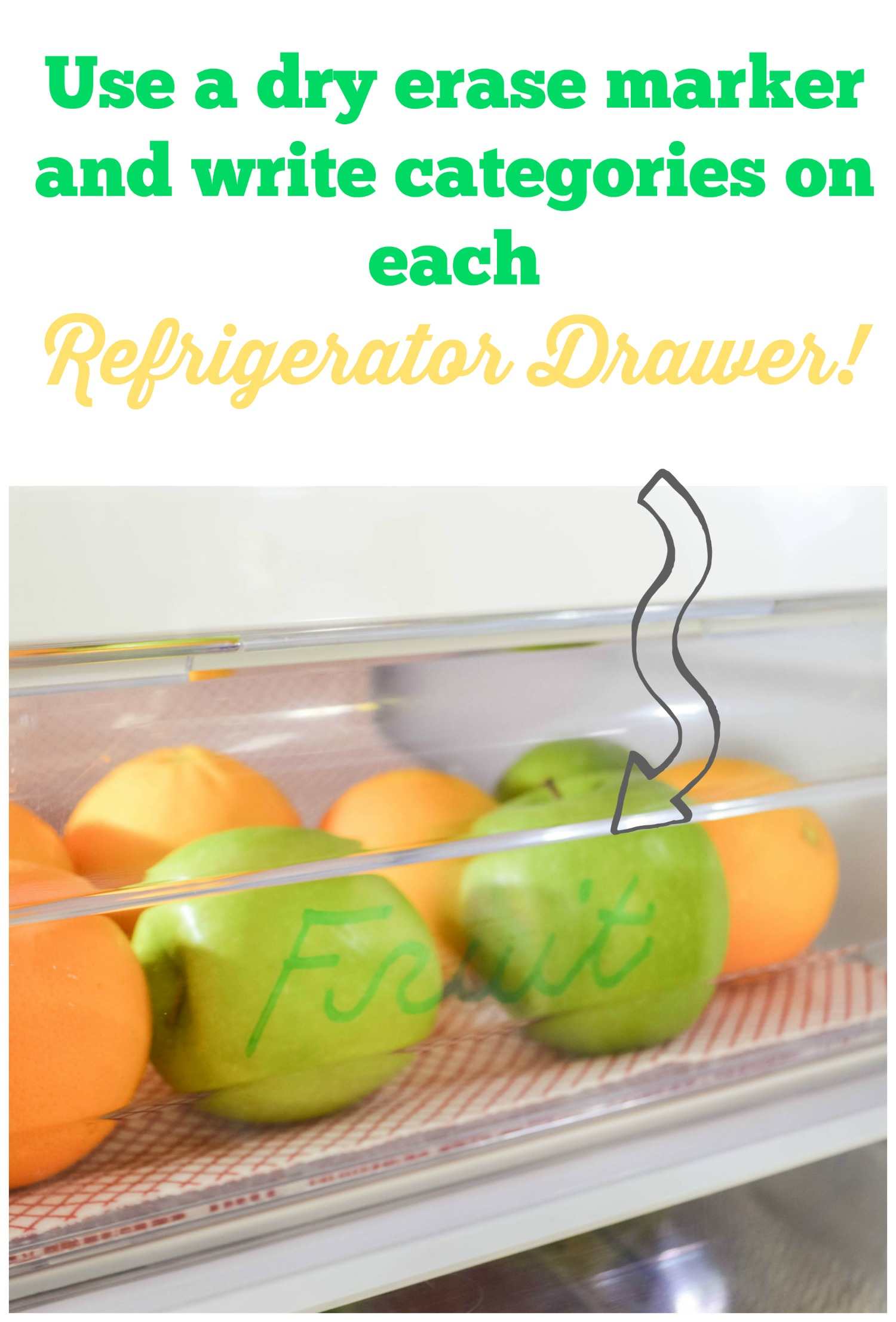 What a great tip using a dry erase marker on plastic drawers in the fridge!