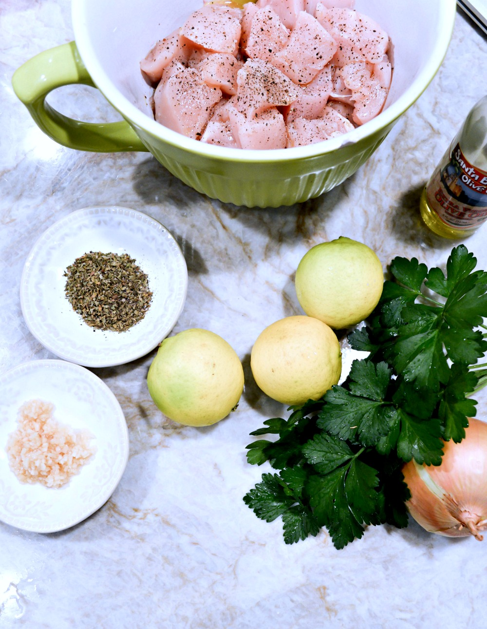 Great Recipe for Greek Lemon Chicken Kabob's
