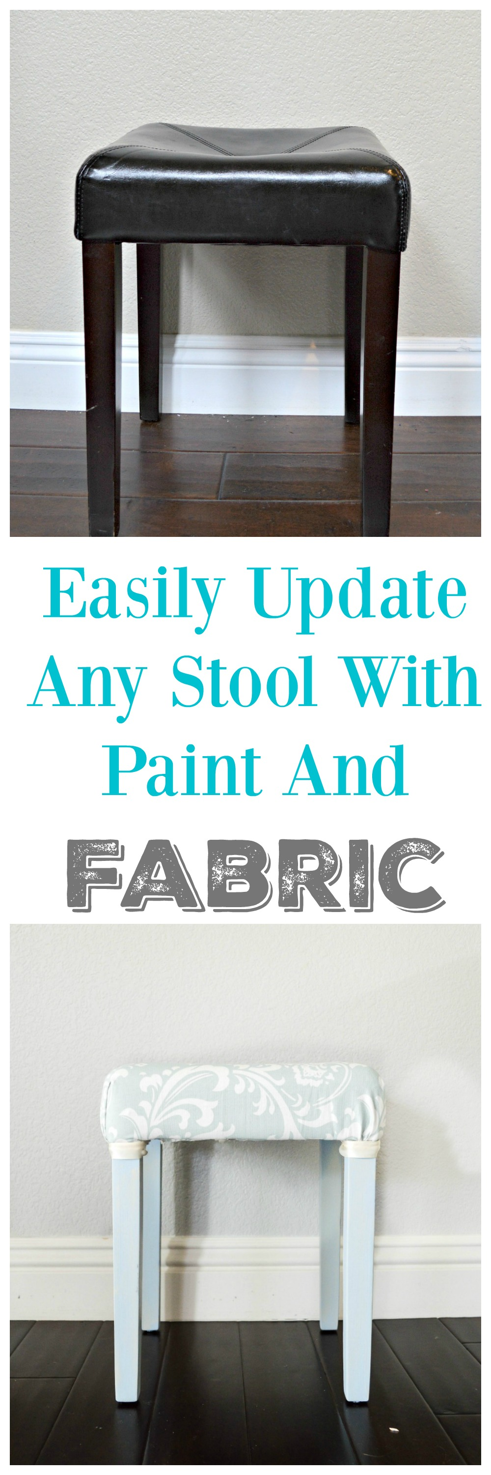 How to easily update a vanity stool