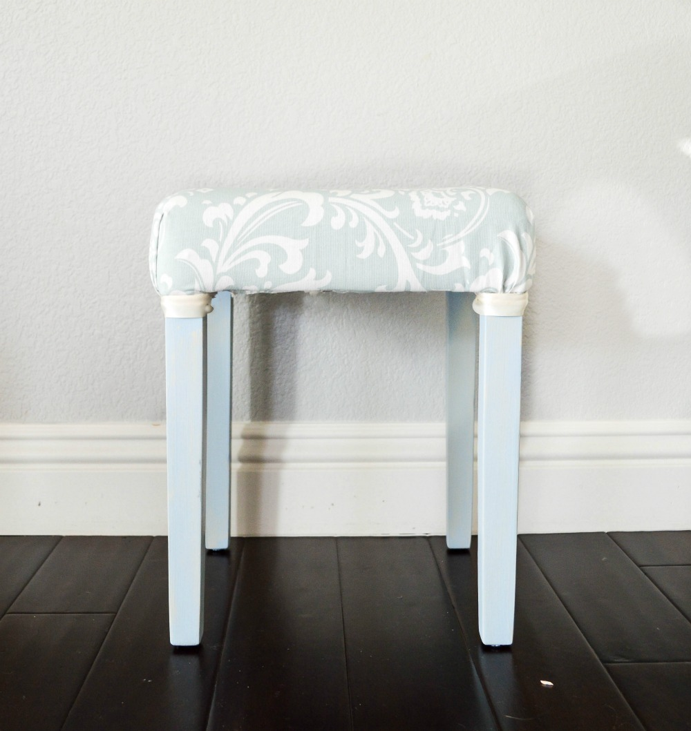 You should see the before of this vanity stool