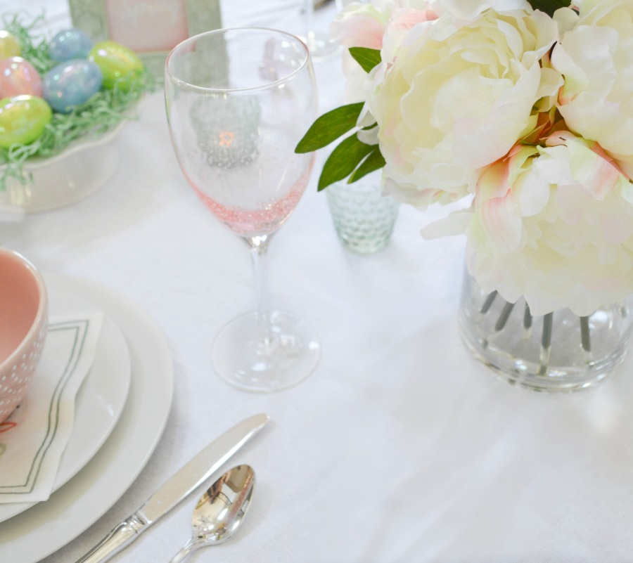 Spring tablescape my uncommon slice of suburbia for Beautiful table settings for spring