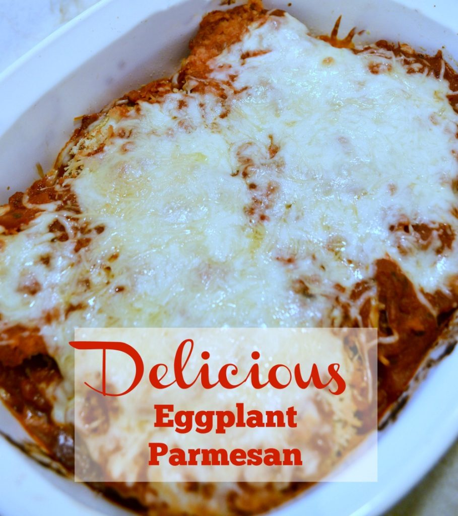 This eggplant parmesan is baked not fried! It is so delicious and so much more healthy for you!
