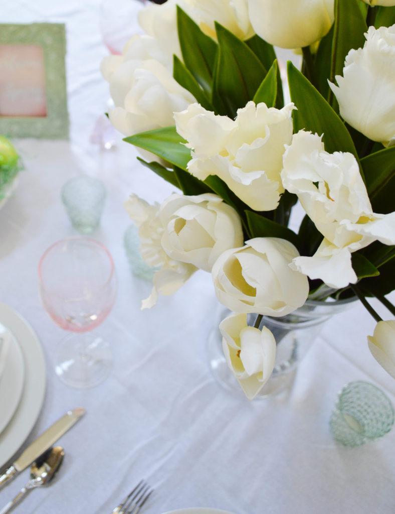 Beautiful faux tulips
