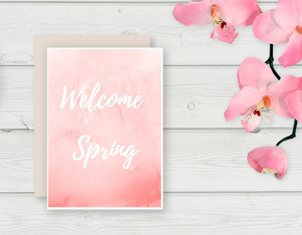 Free Spring Printable beautiful to display behind a frame
