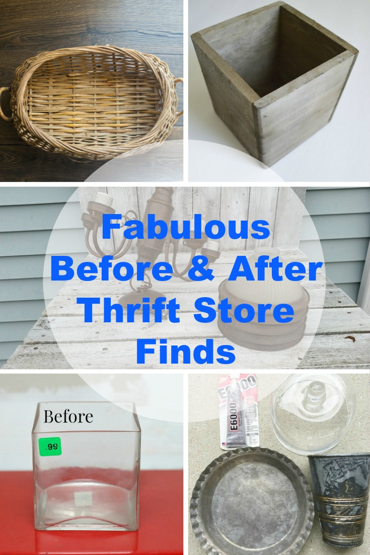 before and after thrift store finds you have to try