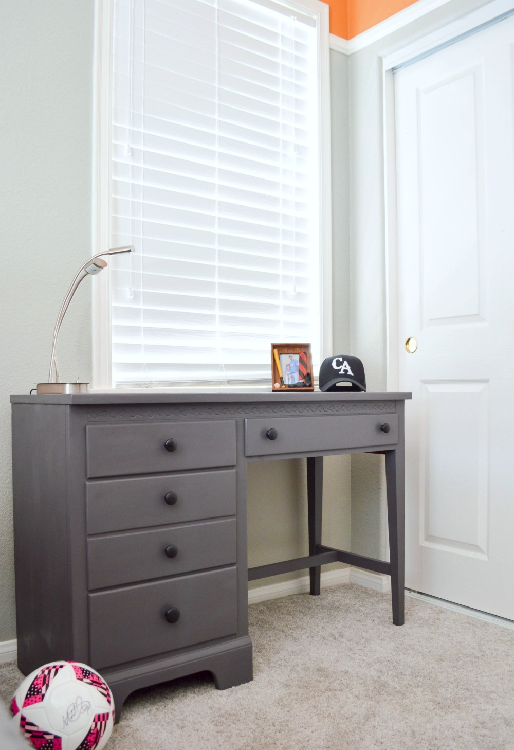 Charmant Painted Desk Makeover. This Was A Curbside Find And With A Little Sanding  And A