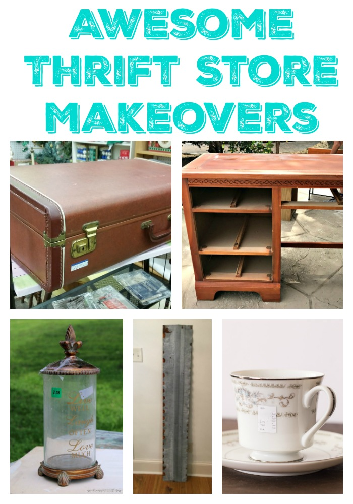 You have to check out the after's to see what all these thrift store finds were made into!