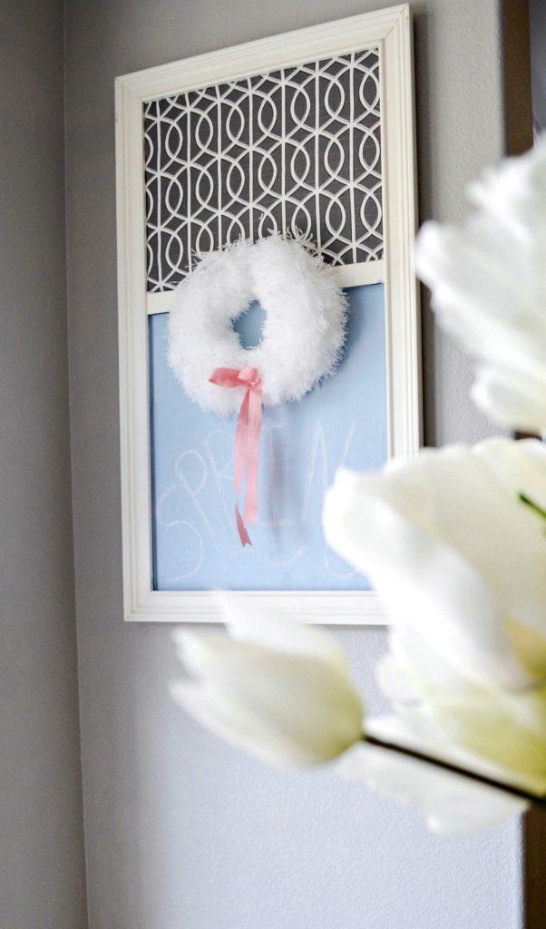Take A Dollar Store Duster And Turn It Into A Beautiful Spring Wreath