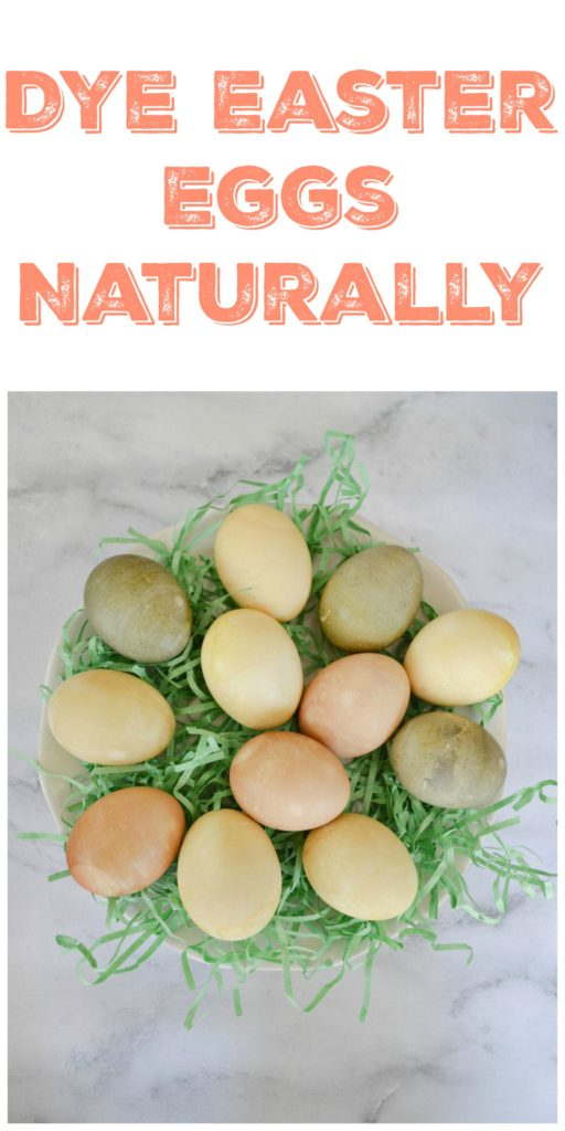 How to dye eggs naturally without using synthetic dyes, the kids will love this!