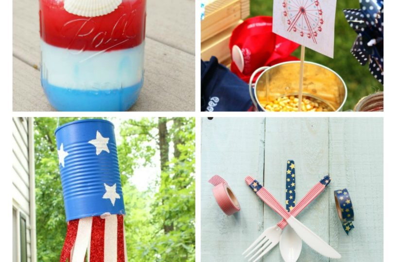 Lots of great DIY Craft ideas to celebrate this fourth of July or memorial day