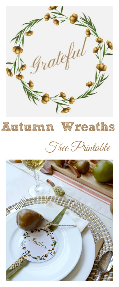 4 free water color wreaths you can print out at home for free