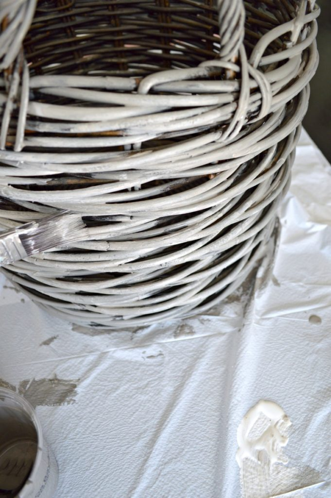 Learn how to makeover a basket and give it a weathered look