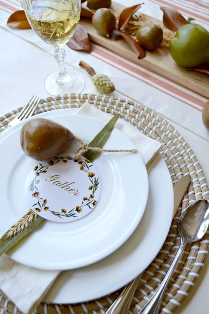 beautiful fall tablescape and 4 printables you can use for free