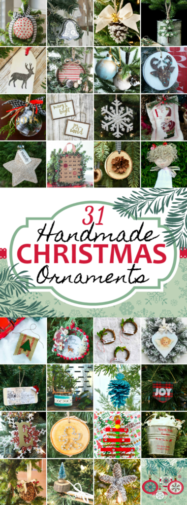 31 Days of Handmade Christmas Ornaments - Don't miss these crafty Christmas idea for decorating the tree! #handmadechristmas #christmasornaments #decoratethetree