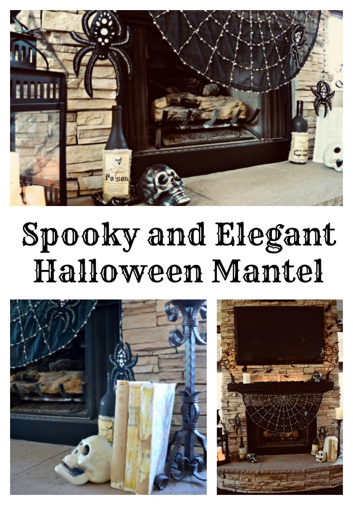 Spooky mantel for Halloween
