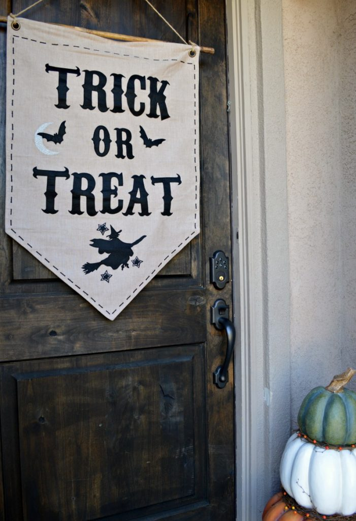 trick or treat decor for the door