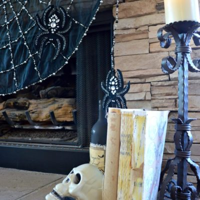 Spooky fireplace for Halloween