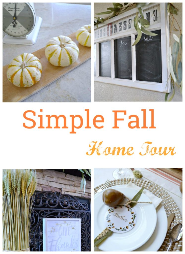 simple and elegant fall home tour