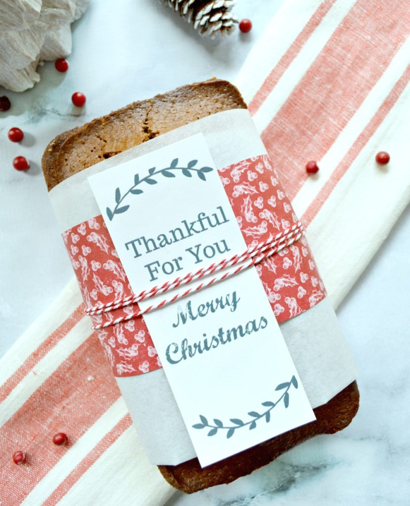 Bread Wrapper Free Printable! Download these free bread wrapper printables and give them to friends and family for the holidays wrapped around a warm loaf of bread